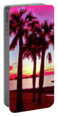 Portable Battery Charger featuring the photograph Red Glow Beach Sunset by Aimee L Maher Photography and Art Visit ALMGallerydotcom