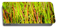 Red Green And Yellow Grass Portable Battery Charger