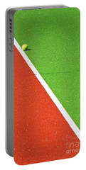 Red Green White Line And Tennis Ball Portable Battery Charger