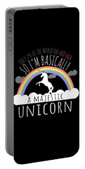 Red Hair Majestic Unicorn Funny Redhead Portable Battery Charger