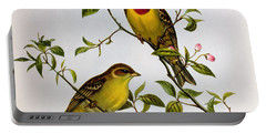 Red Headed Bunting Portable Battery Charger by John Gould