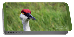Red Headed Crane Portable Battery Charger