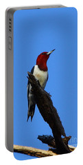 Red Headed Woodpecker On A Snag Portable Battery Charger