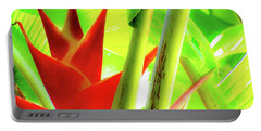 Red Heliconia Portable Battery Charger