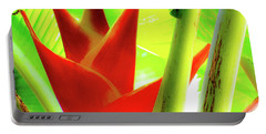 Red Heliconia Plant Portable Battery Charger