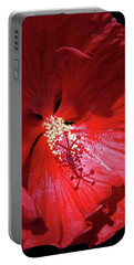 Portable Battery Charger featuring the photograph Red Hibiscus by Judy Johnson