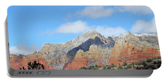 Portable Battery Charger featuring the photograph Red Hills Ridge Shadow by Lynda Lehmann