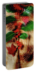 Red Holly Spinning Portable Battery Charger