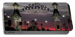 Red Horizon Thru The Boardwalk Arch Portable Battery Charger