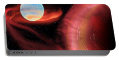 Red Hot Binary Star Portable Battery Charger