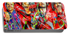 Red Hot Chili Peppers In Color II  Portable Battery Charger by Daniel Janda