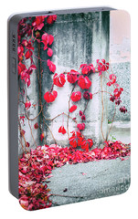 Portable Battery Charger featuring the photograph Red Ivy Leaves by Silvia Ganora