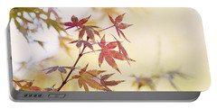 Red Japanese Maple Leaves Portable Battery Charger