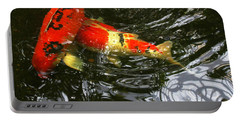 Red Koi Fish Portable Battery Charger