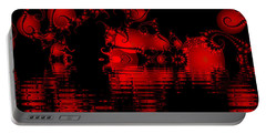 Red Lake Cave Fractal Portable Battery Charger