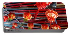 Portable Battery Charger featuring the photograph Red Lanterns 3 by Randall Weidner