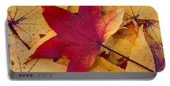 Portable Battery Charger featuring the photograph Red Leaf by Chevy Fleet