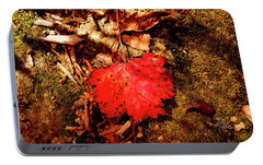 Portable Battery Charger featuring the photograph Red Leaf by Meta Gatschenberger