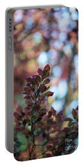 Red Leaves Abstract Portable Battery Charger by Mike Reid