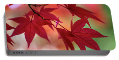 Portable Battery Charger featuring the photograph Red Leaves by Clare Bambers
