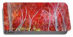 Crimson Leaves Portable Battery Charger