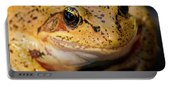 Portable Battery Charger featuring the photograph Red Leg Frog by Jean Noren
