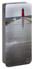 Portable Battery Charger featuring the photograph Red Lighthouse by Tara Lynn