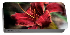 Portable Battery Charger featuring the photograph Red Lilly by Michaela Preston