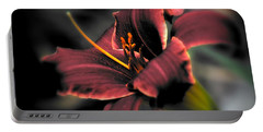 Portable Battery Charger featuring the photograph Red Lilly2 by Michaela Preston
