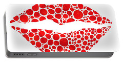 Red Lips Art - Big Kiss - Sharon Cummings Portable Battery Charger