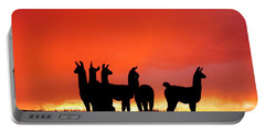 Red Llama Sunset 1 Portable Battery Charger