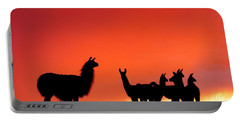 Red Llama Sunset 2 Portable Battery Charger