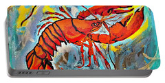 Red Lobster Abstract  Portable Battery Charger by Scott D Van Osdol