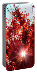 Red Maple Burst Portable Battery Charger by Wendy McKennon