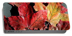 Red Maple Leaves Digital Painting Portable Battery Charger by Barbara Griffin