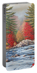 Red Maples, White Water Portable Battery Charger