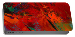 Portable Battery Charger featuring the painting Red Mood by Elise Palmigiani