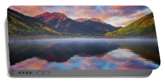 Portable Battery Charger featuring the photograph Red Mountain Reflection by Darren White