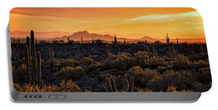 Portable Battery Charger featuring the photograph Red Mountain Sunset Part Two  by Saija Lehtonen