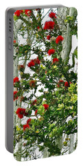 Red Ohia Lehua In Volcano Rainforest Portable Battery Charger