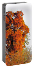 Red-orange Fall Tree Portable Battery Charger
