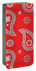 Red Paisley Portable Battery Charger
