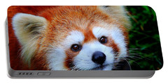 Red Panda Portable Battery Charger by Davandra Cribbie