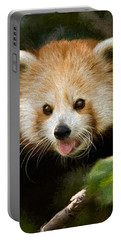 Portable Battery Charger featuring the photograph Red Panda by Lana Trussell