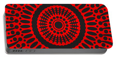 Portable Battery Charger featuring the digital art Red Passion by Lucia Sirna