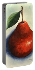 Red Pear In The Spotlight Portable Battery Charger