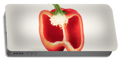 Red Pepper Cross-section Portable Battery Charger