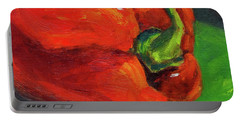 Red Pepper Still Life Portable Battery Charger