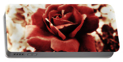 Red Petals Portable Battery Charger