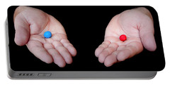 Red Pill Blue Pill Portable Battery Charger by Semmick Photo
